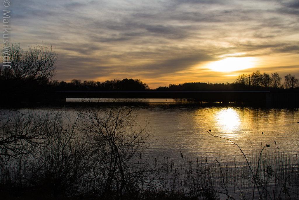 Sunset in Plön